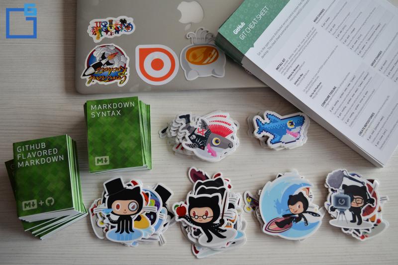 stickers, hacktoberfest