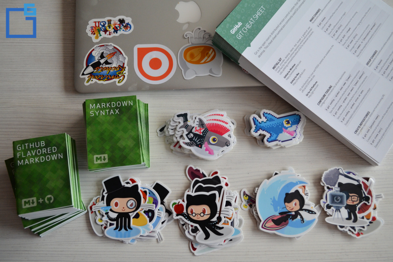 stickers, hacktoberfest